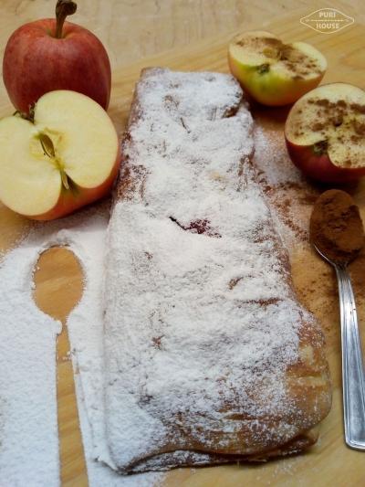 Warkocz z jabłkiem  i cynamonem